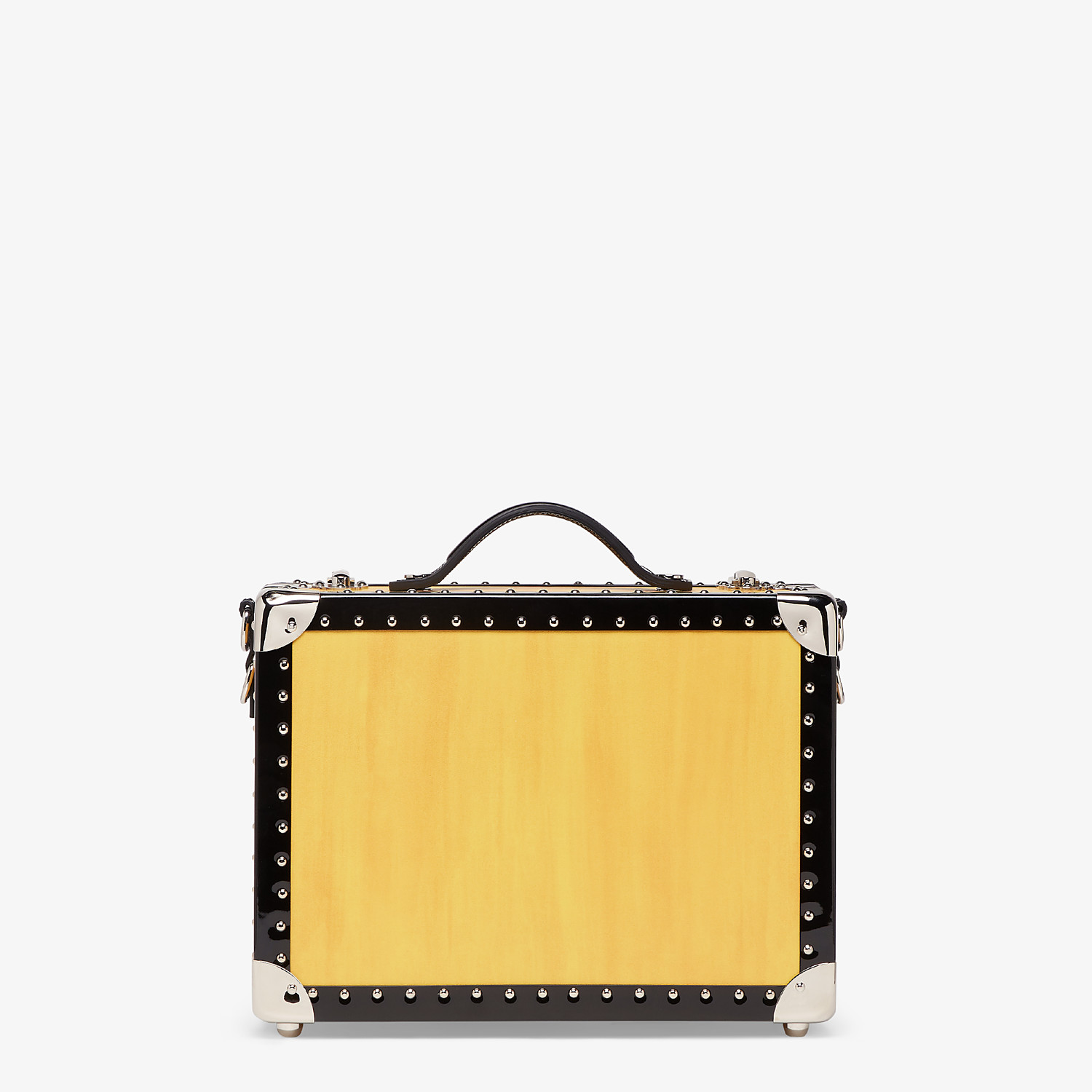 FENDI TRAVEL BAG SMALL - Yellow leather suitcase - view 3 detail