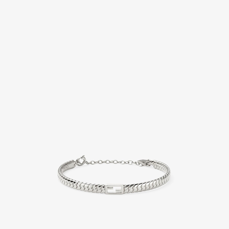 FENDI BAGUETTE BRACELET - Silver-colored bracelet - view 1 detail