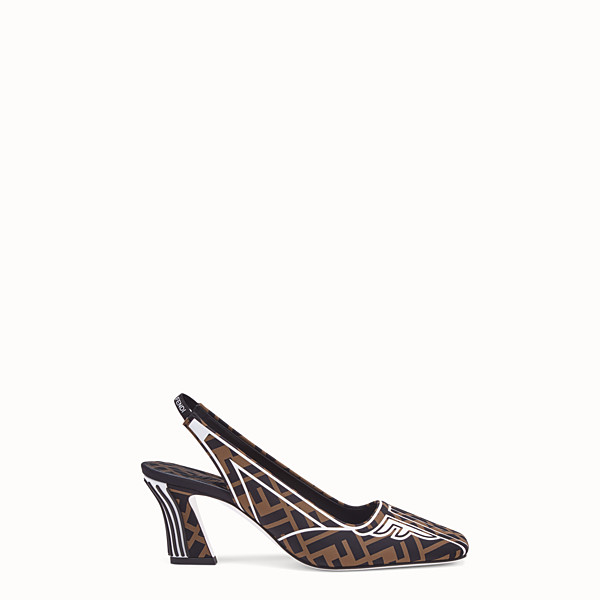 FENDI PUMPS - Slingbacks in brown fabric - view 1 small thumbnail