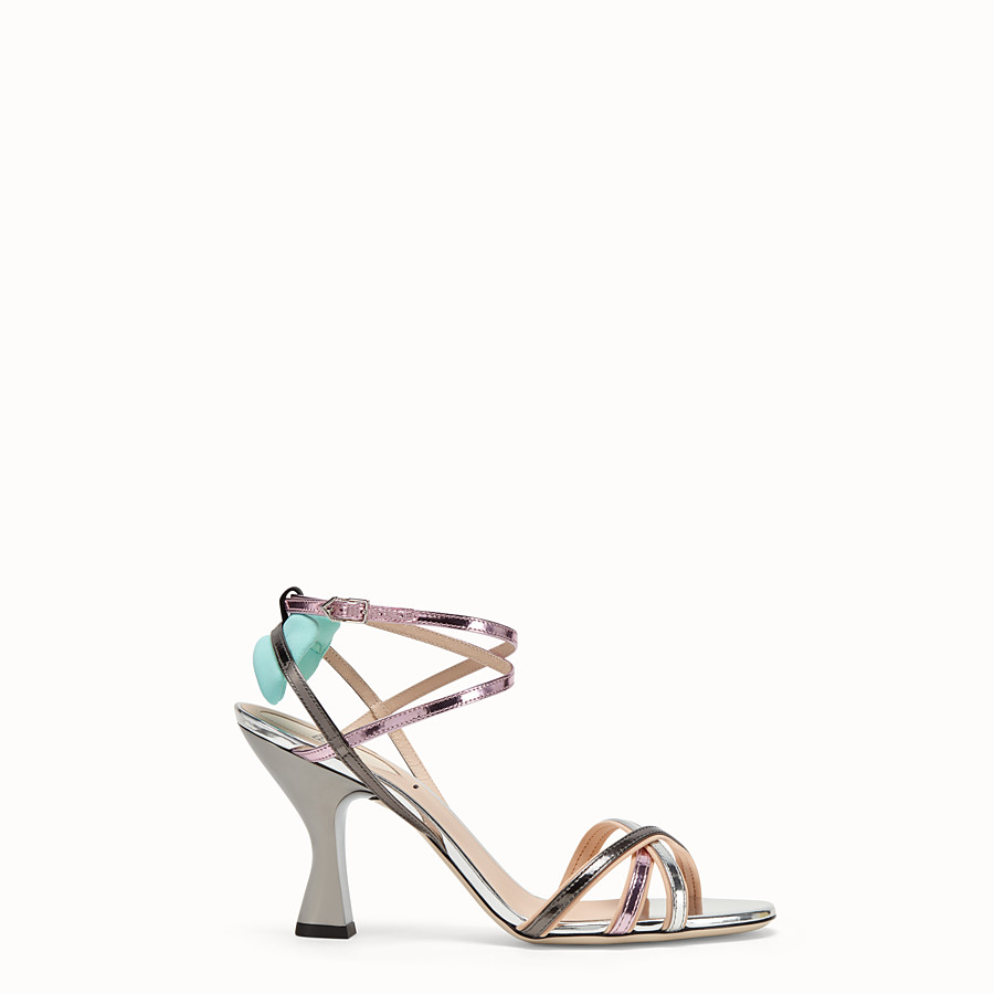 FENDI SANDALS - Multicolour leather sandals - view 1 detail