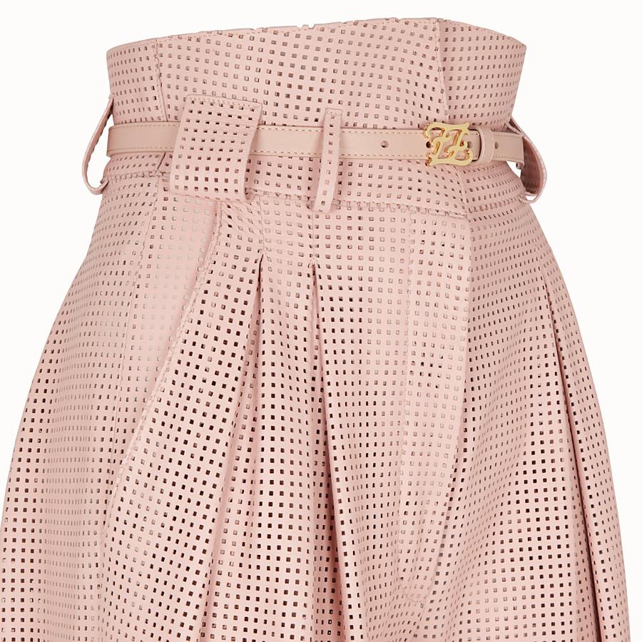 FENDI PANTALONE - Pantalone in pelle rosa - vista 3 dettaglio