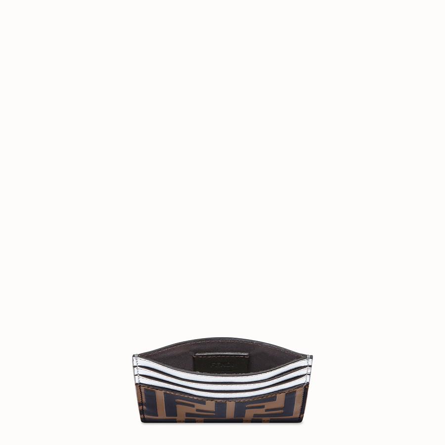 FENDI CARD HOLDER - Flat, silver leather cardholder - view 3 detail