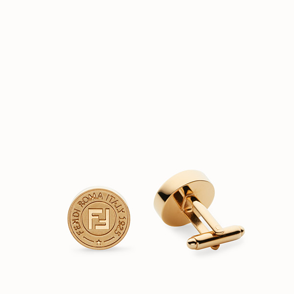 FENDI CUFFLINKS - Gold-colored cufflinks - view 1 small thumbnail