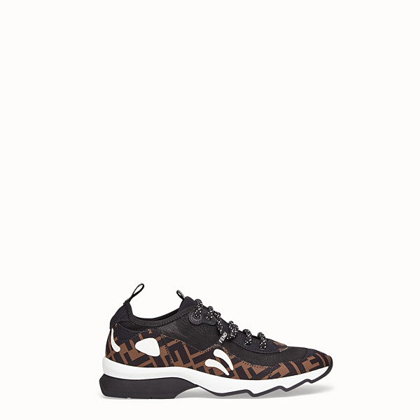 FENDI SNEAKERS - Brown technical mesh sneaker - view 1 small thumbnail