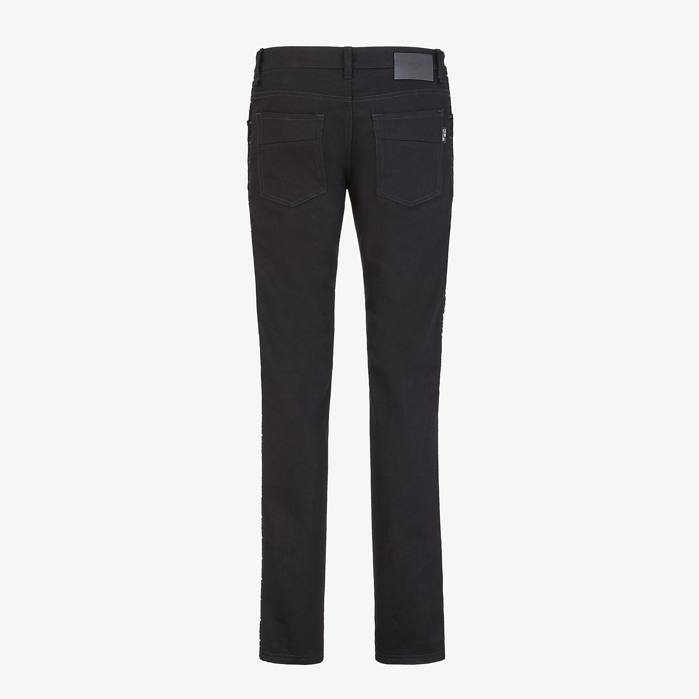 FENDI DENIM - Black denim jeans - view 2 detail
