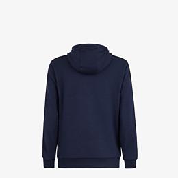 FENDI SWEATSHIRT - Sweatshirt aus Wolle und Baumwolle in Blau - view 2 thumbnail