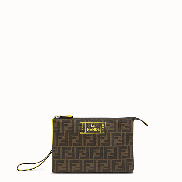 FENDI POUCH - Brown PU pochette - view 1 small thumbnail