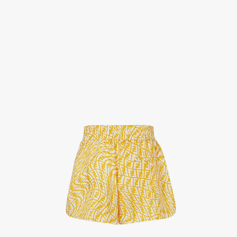 FENDI BERMUDAS - Yellow silk trousers - view 2 detail