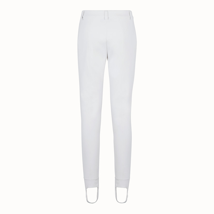 FENDI LEGGINGS - White tech fabric trousers - view 2 detail