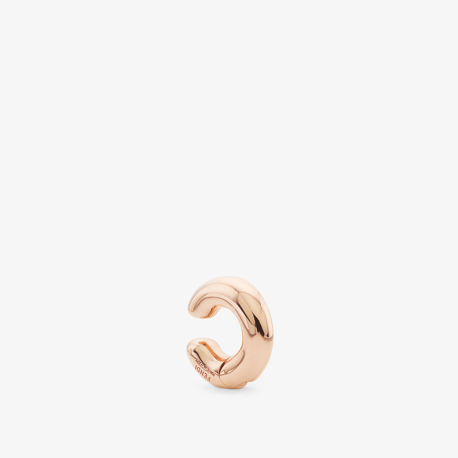 FENDI FENDIOOPS EARRING - Rose-gold-coloured earring - view 1 detail