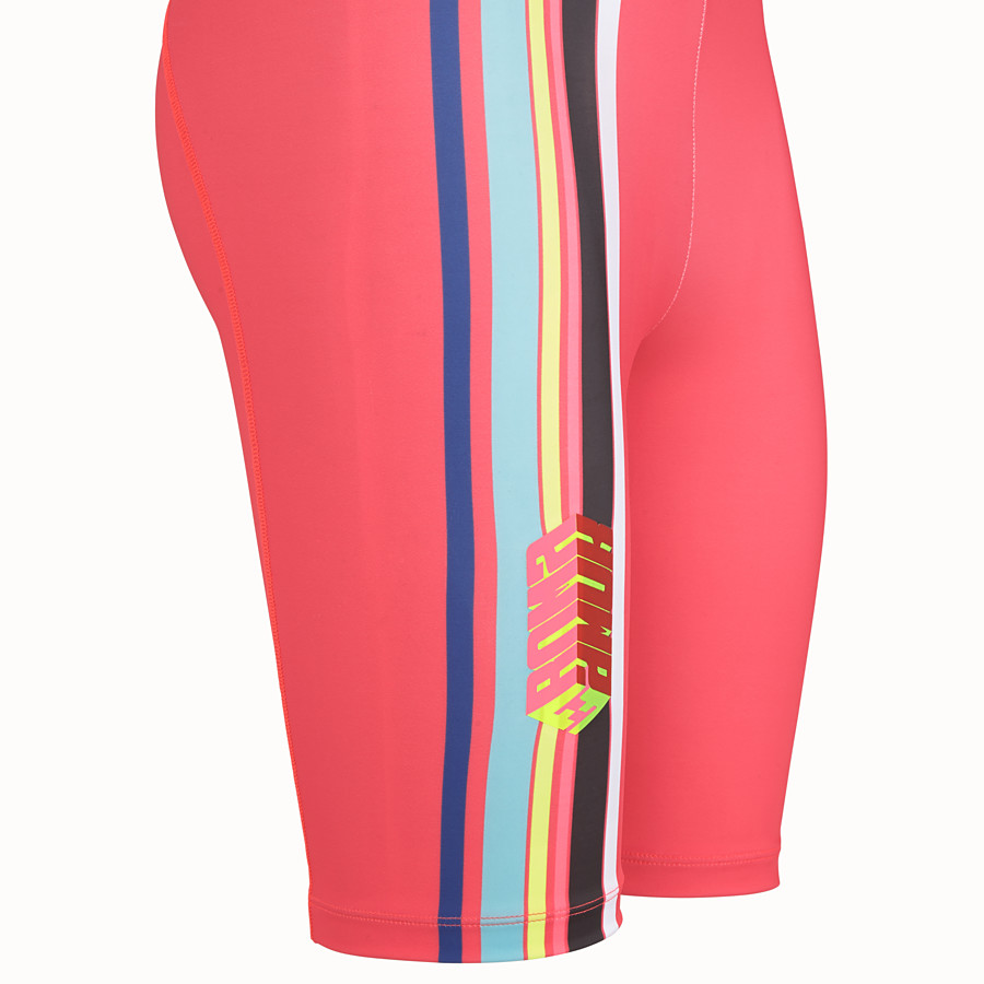 FENDI TROUSERS - Fendi Roma Amor stretch fabric bike shorts - view 3 detail