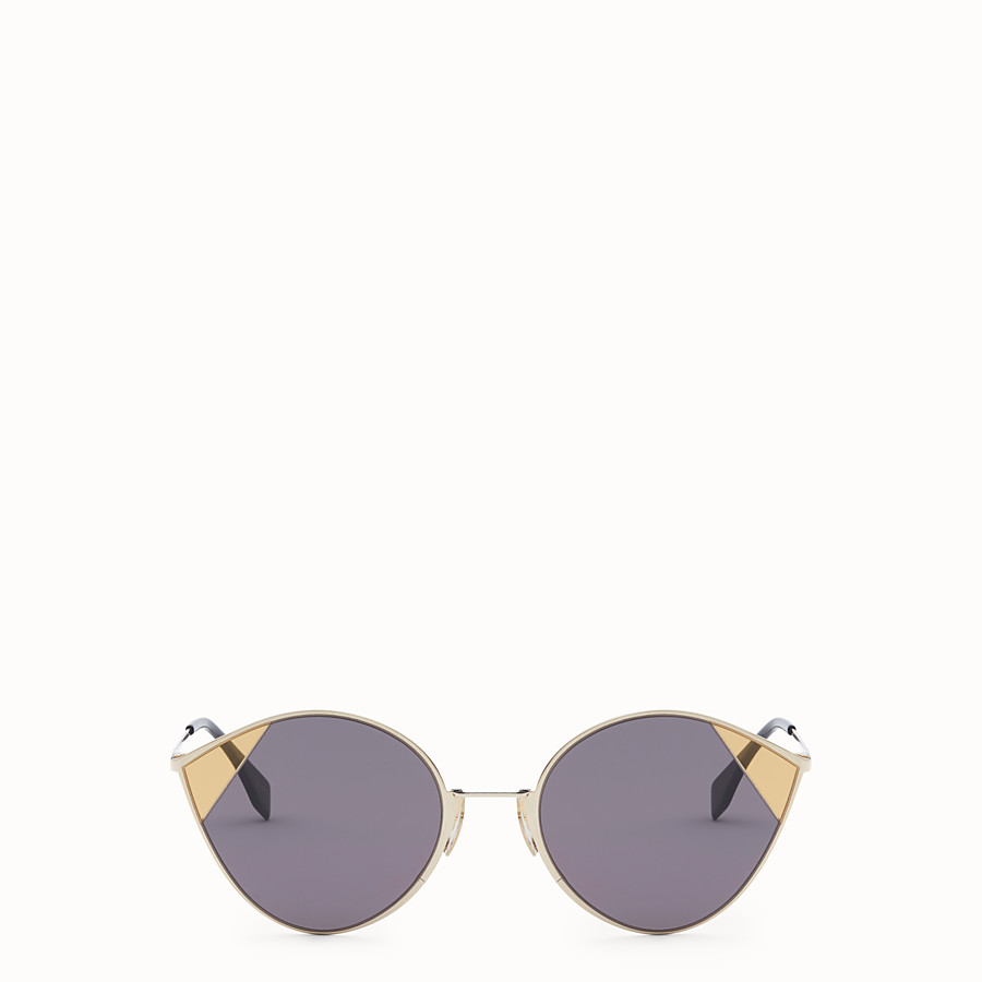 FENDI CUT-EYE - Gold-colored sunglasses - view 1 detail