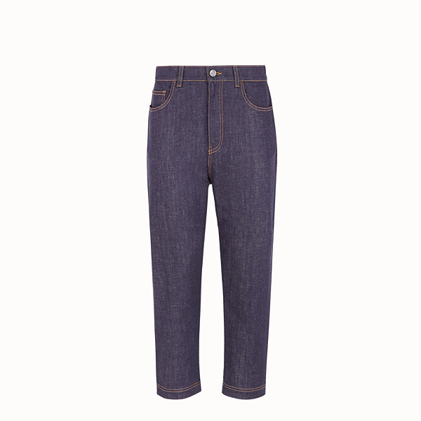 FENDI PANTALON - Pantalon en denim bleu - view 1 small thumbnail