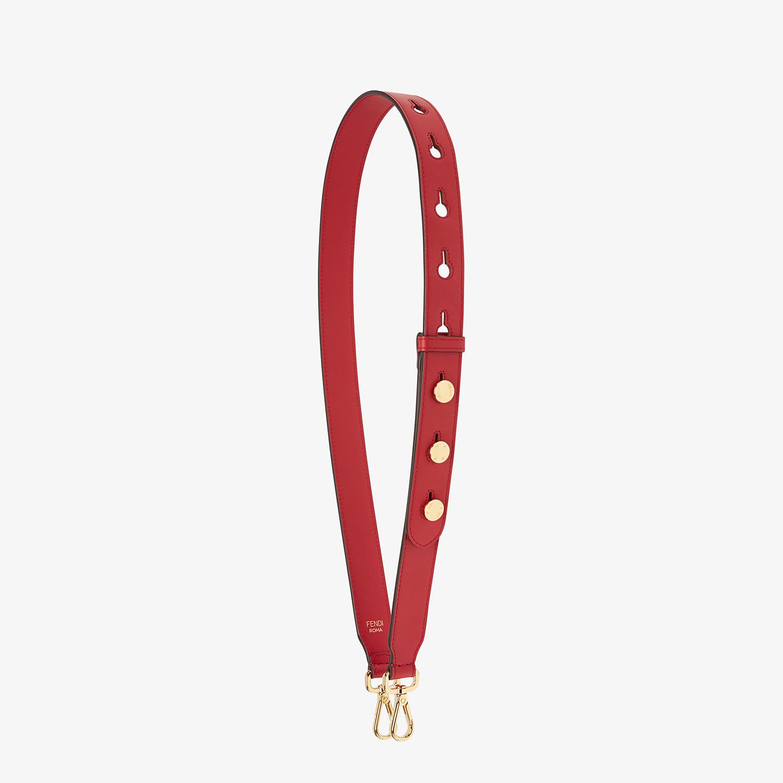 FENDI STRAP YOU - Leather shoulder strap - view 1 detail
