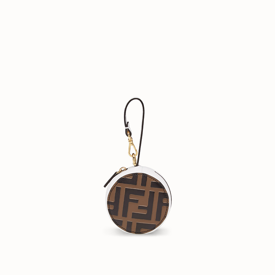 FENDI TOTE BAG CHARM - White leather charm - view 1 detail