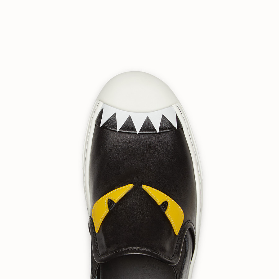 FENDI SNEAKER - Slip on in black calfskin - view 4 detail