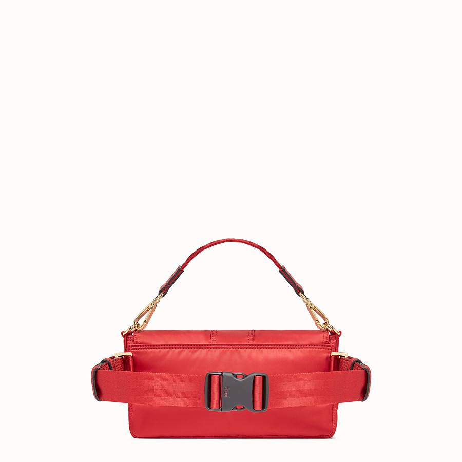 FENDI BAGUETTE FENDI AND PORTER - Red nylon bag - view 3 detail