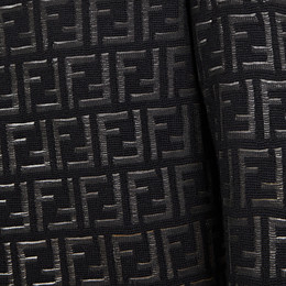 FENDI PULLOVER - Jumper in black nylon and wool - view 3 thumbnail