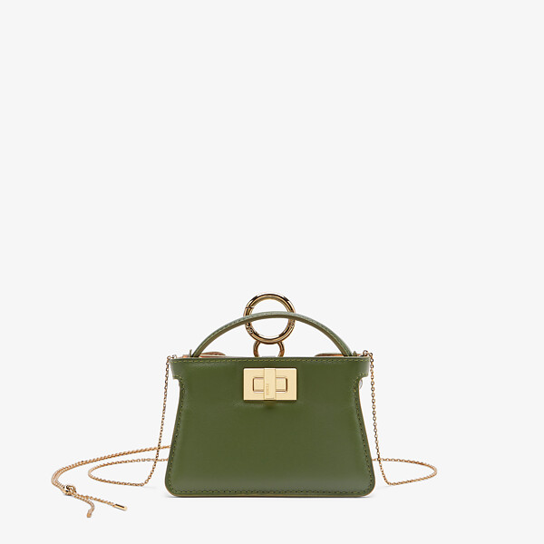 Green nappa leather charm
