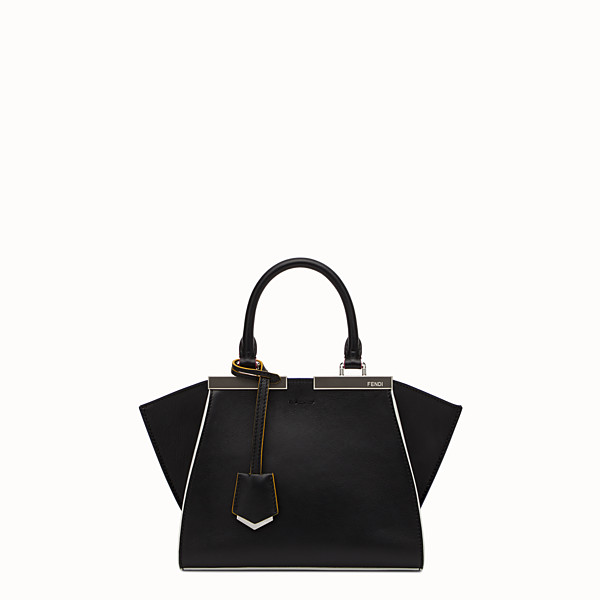 FENDI MINI 3JOURS - Black leather handbag - view 1 small thumbnail
