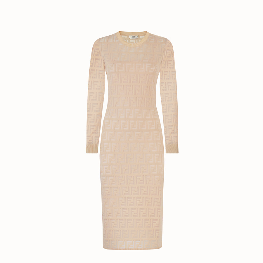 FENDI DRESS - Beige cotton dress - view 1 detail