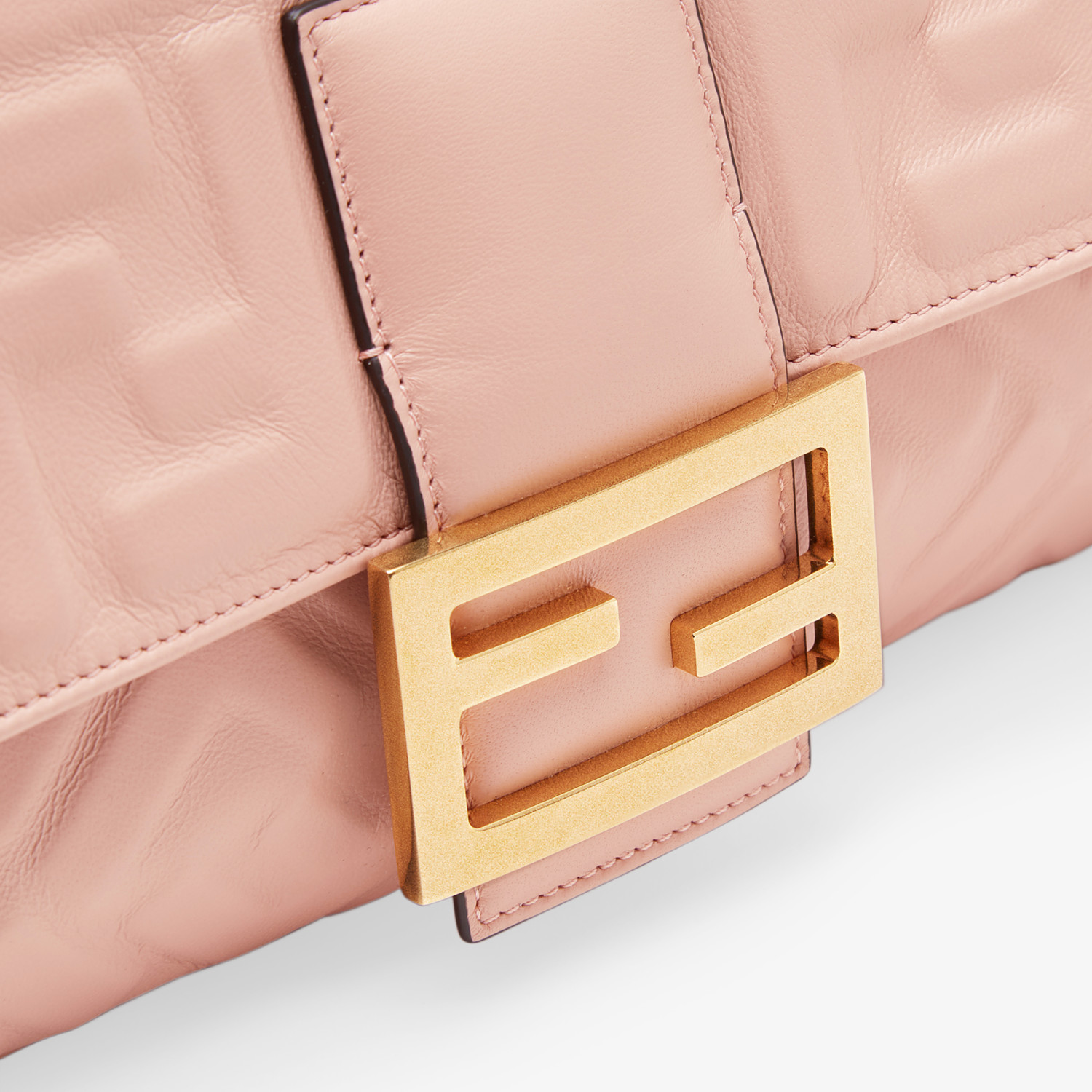 FENDI BAGUETTE LARGE - Pink nappa leather bag - view 6 detail