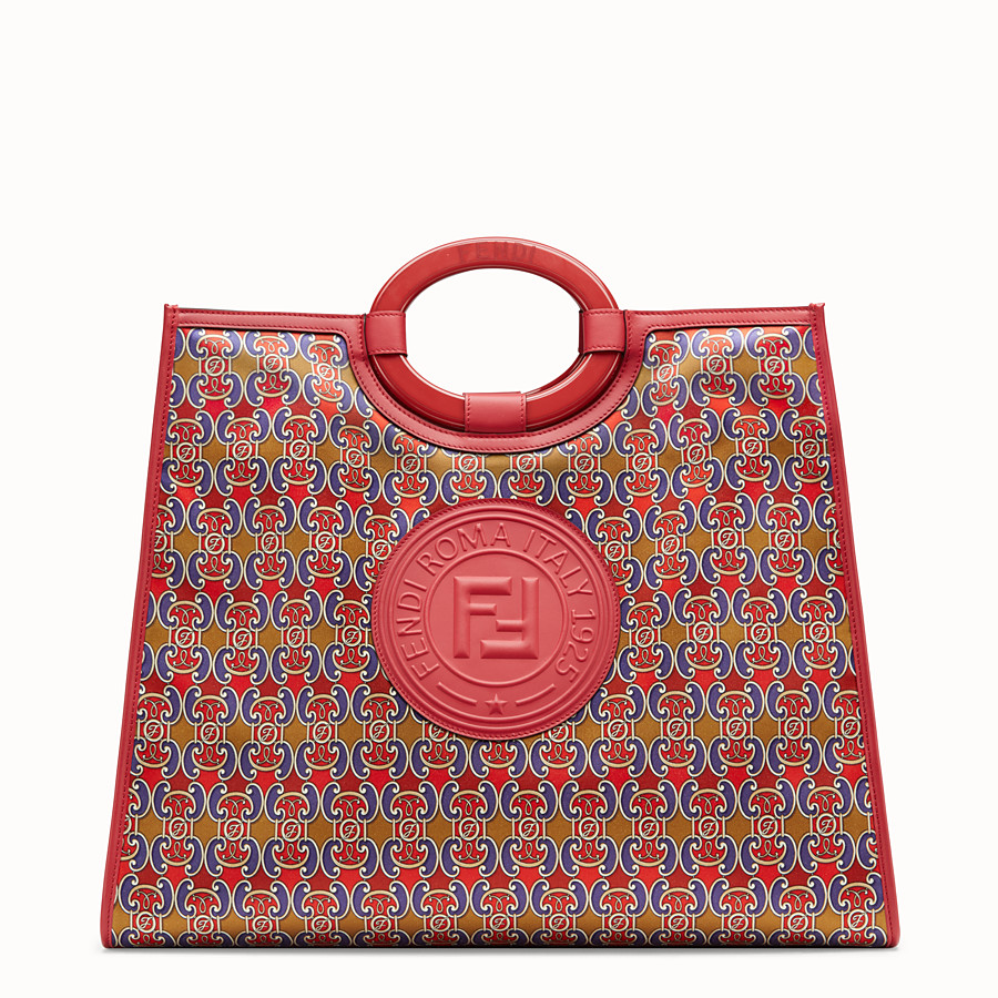 FENDI RUNAWAY SHOPPER - Multicolour satin shopper - view 1 detail