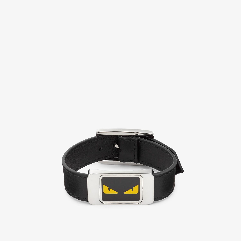 FENDI BRACELET - Black leather bracelet - view 1 detail