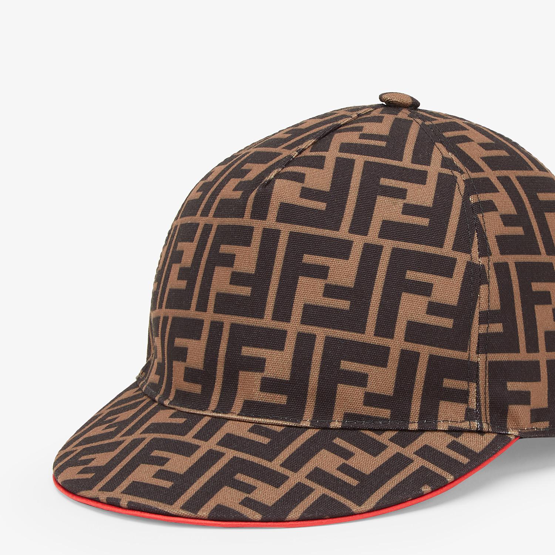 FENDI FENDIRAMA HAT - Multicolour fabric baseball cap - view 2 detail