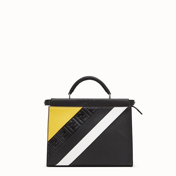 FENDI MINI PEEKABOO FIT - Black leather bag - view 1 small thumbnail