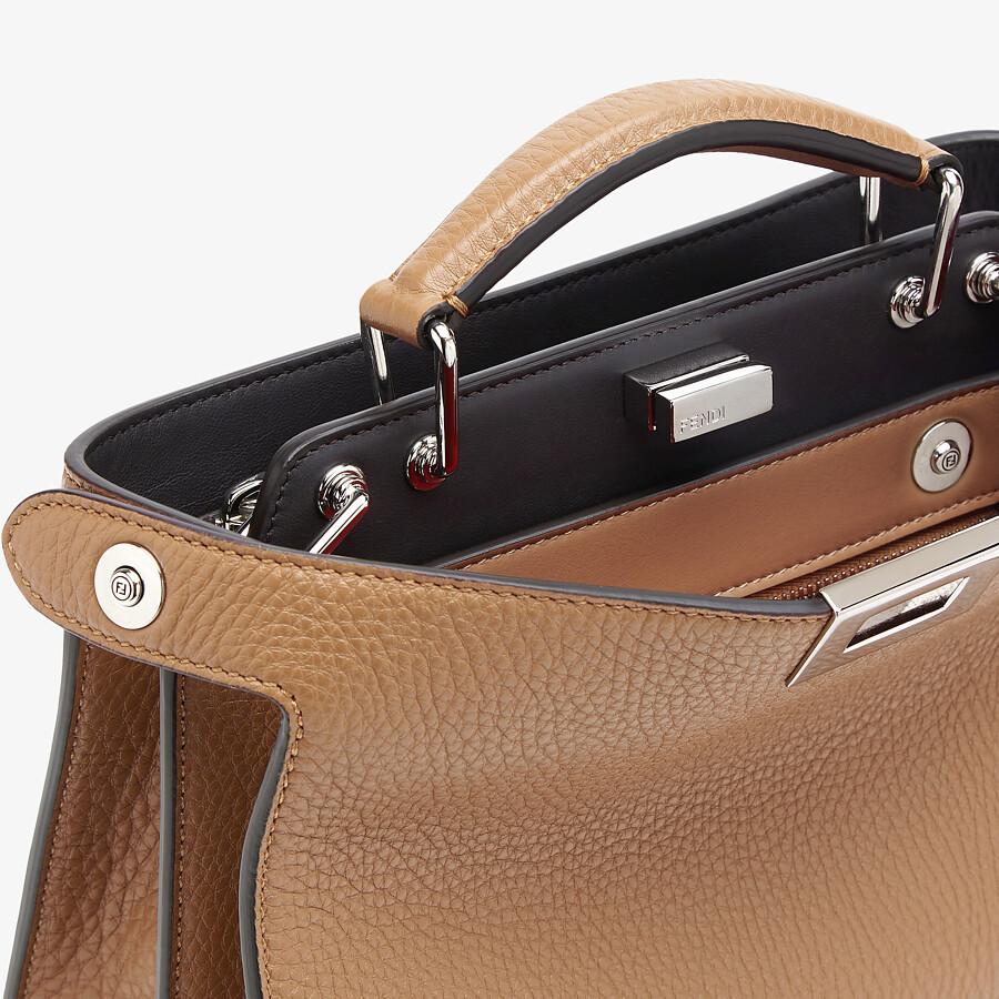 FENDI PEEKABOO ISEEU MINI - Beige leather bag - view 6 detail