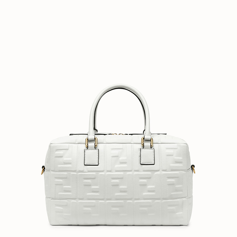 FENDI BOSTON SMALL - White leather Boston bag - view 3 detail