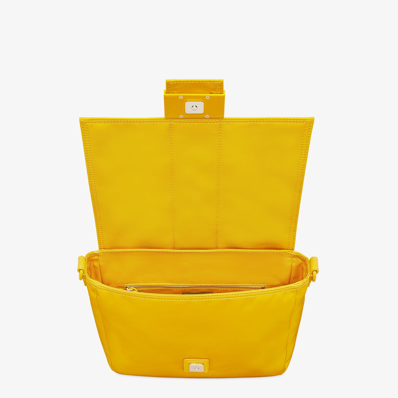 FENDI BAGUETTE MESSENGER BAG MEDIUM - Yellow nylon bag - view 4 detail