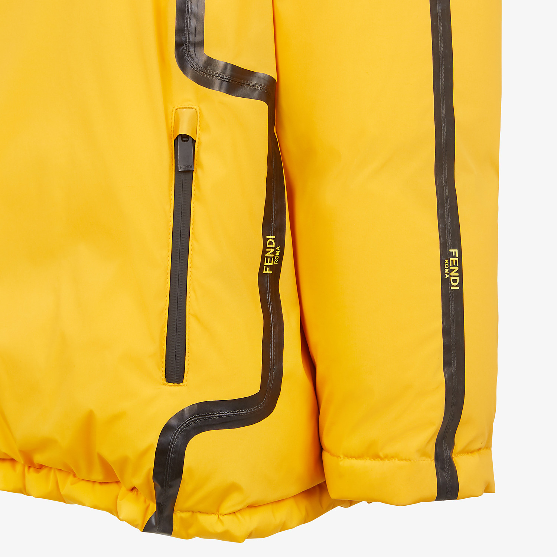 FENDI DOWN JACKET - Yellow tech fabric jacket - view 3 detail