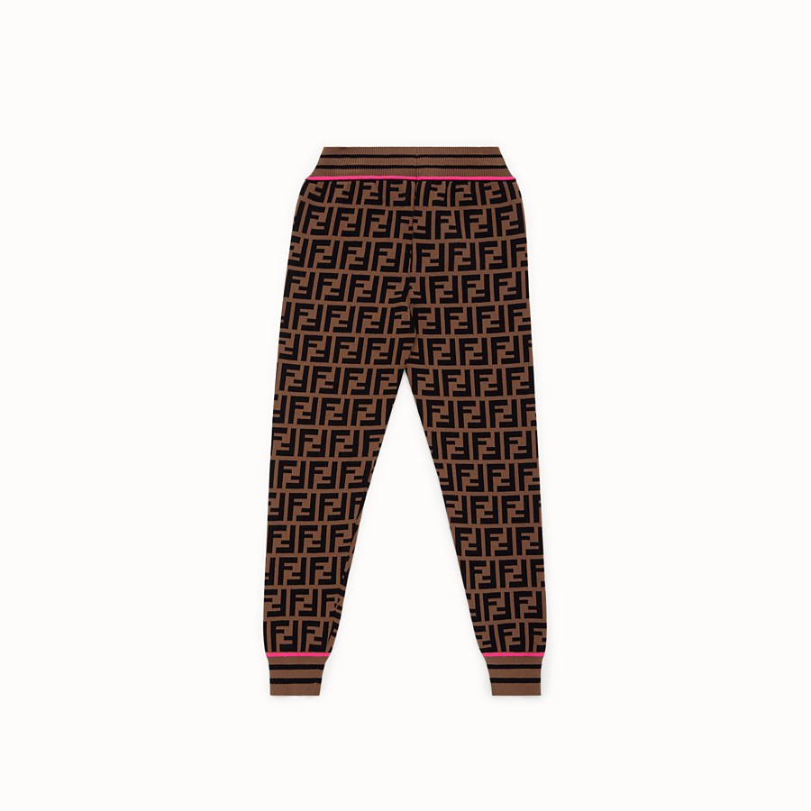FENDI PANTS - Fendi Roma Amor knit trousers - view 2 detail