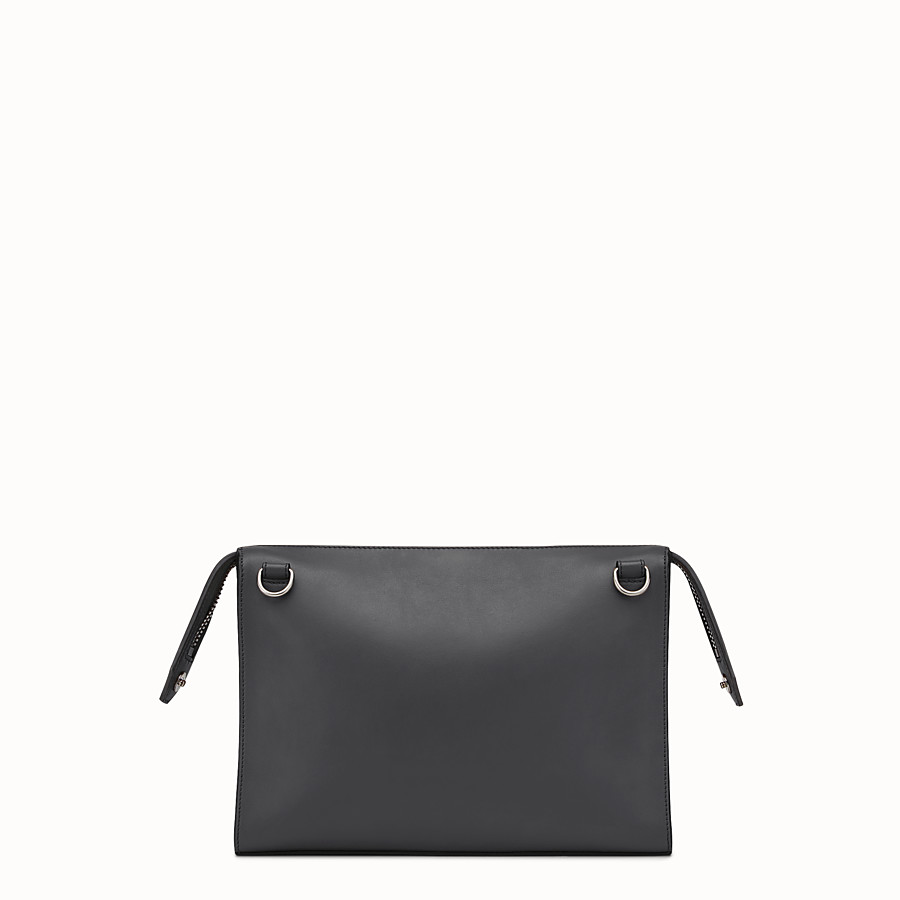 FENDI DOCUMENT HOLDER - Smooth black leather bag - view 3 detail