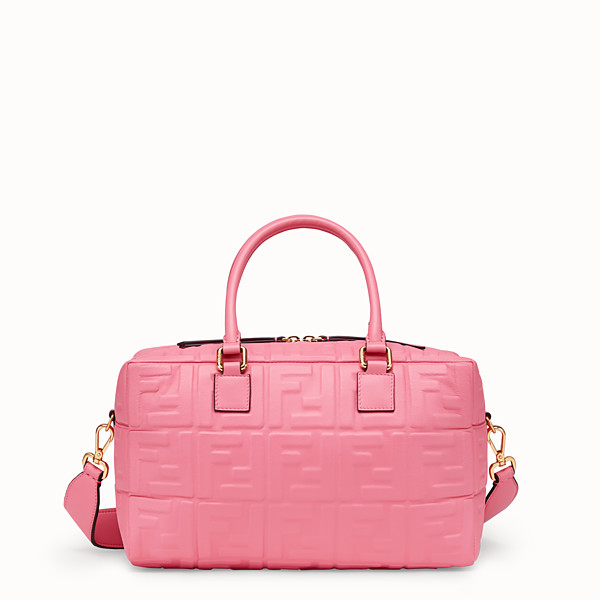 FENDI BOSTON SMALL - Pink leather Boston bag - view 1 small thumbnail