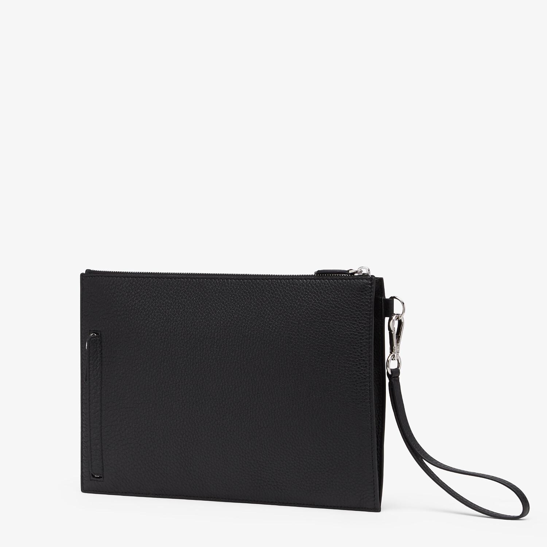 FENDI FLAT POUCH - Black leather bag - view 2 detail