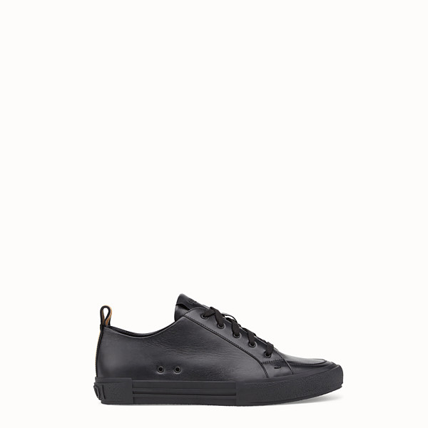 FENDI SNEAKERS - Chaussures basses en cuir noir - view 1 small thumbnail