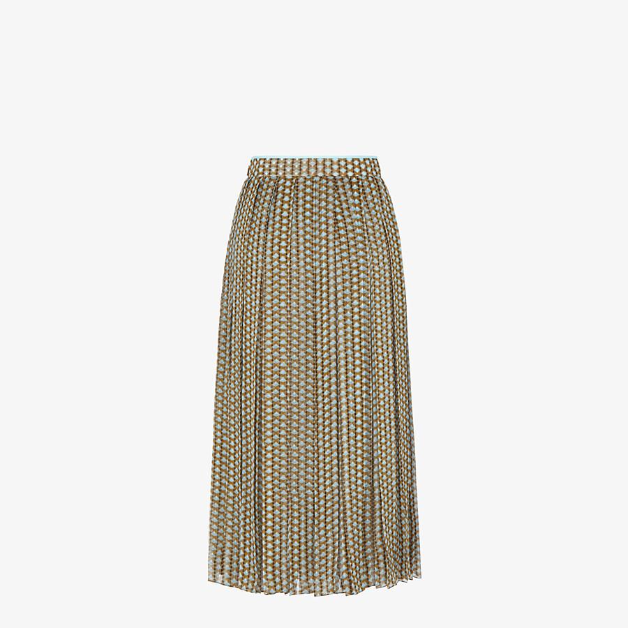 FENDI SKIRT - Printed silk skirt - view 2 detail