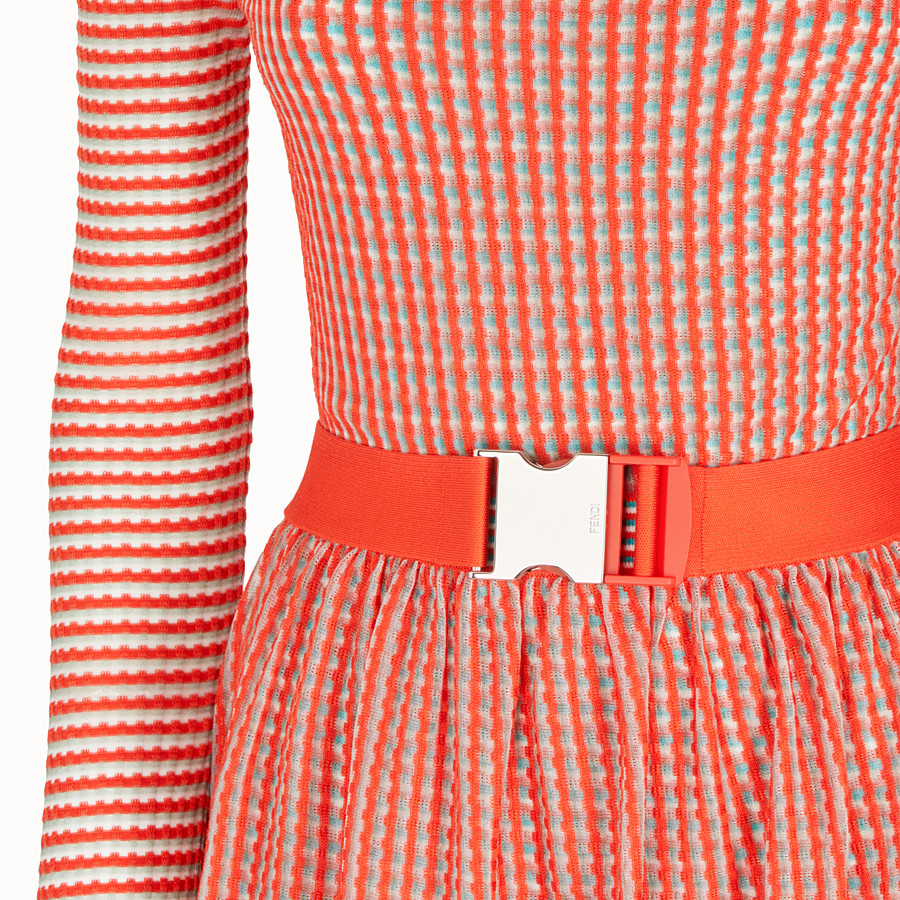 FENDI DRESS - Micro-check silk dress - view 3 detail