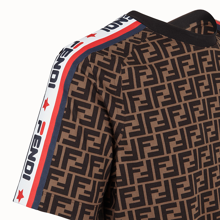 FENDI T-SHIRT - Unisex t-shirt in multicoloured jersey - view 3 detail