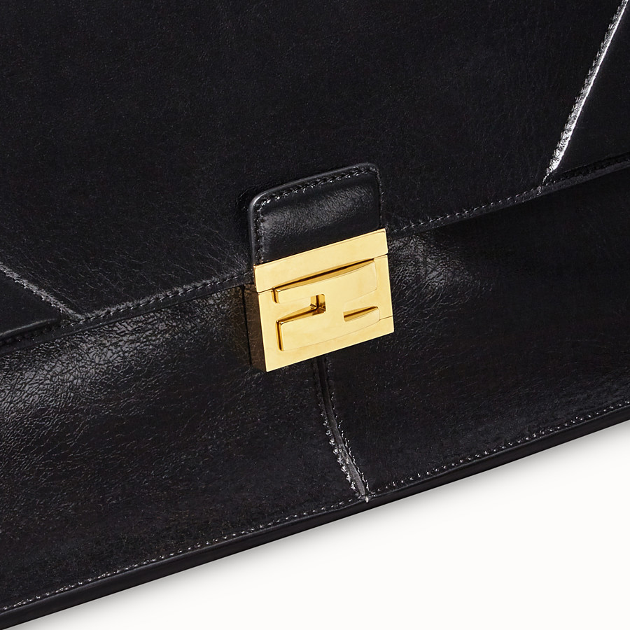 FENDI KAN U LARGE - Black leather bag - view 5 detail