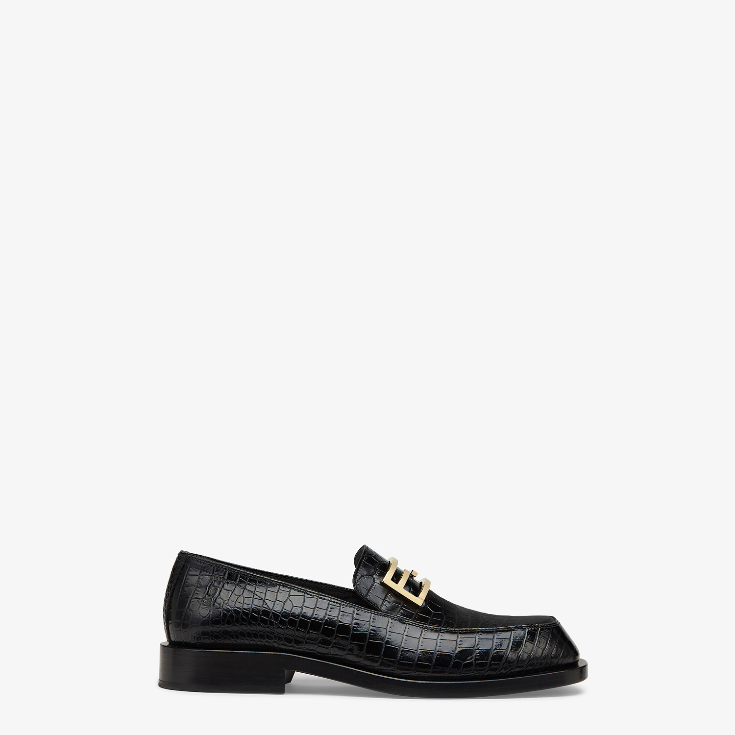 FENDI LOAFERS - Black leather loafers - view 1 detail