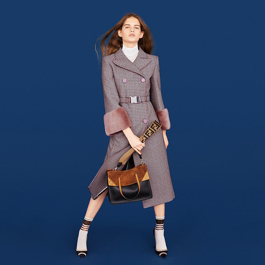 FENDI FENDI FLIP LARGE - Tasche aus Leder und Veloursleder Mehrfarbig - view 2 detail