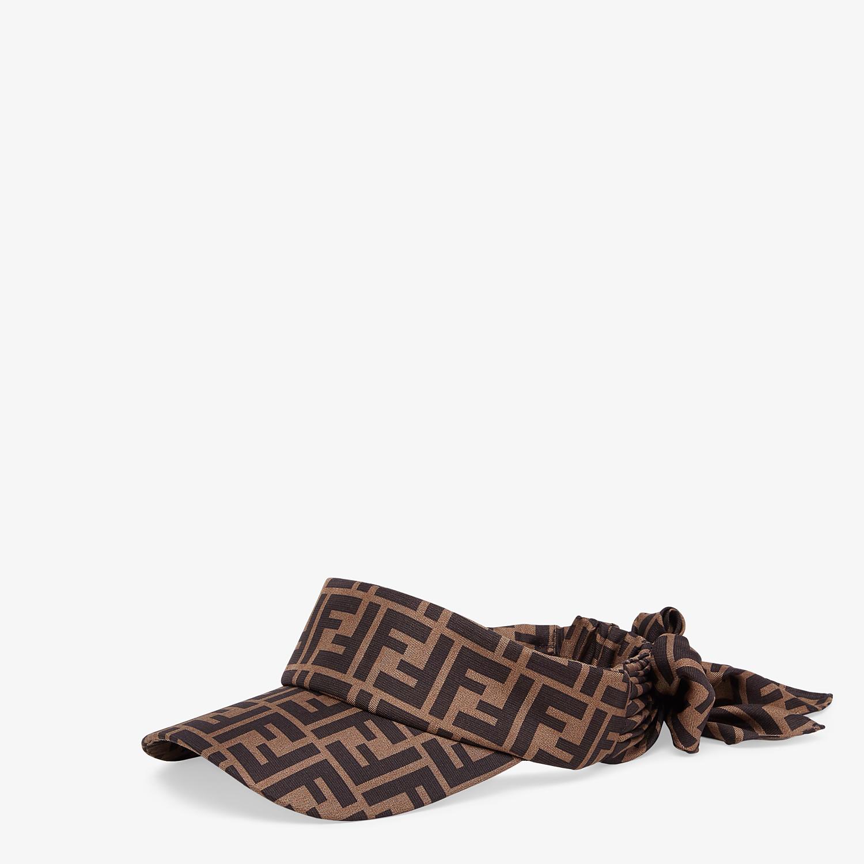 FENDI VISOR - Brown twill visor - view 1 detail