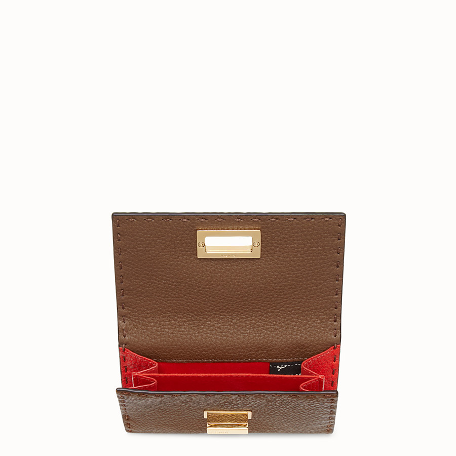 FENDI CONTINENTAL MEDIUM - Brown leather wallet - view 3 detail