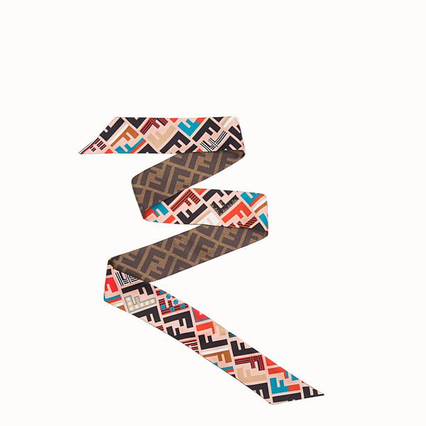 FENDI SIGNATURE WRAPPY - Multicolour silk bandeau - view 1 small thumbnail