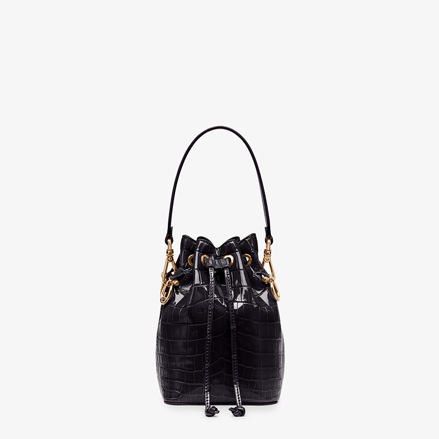 FENDI MON TRESOR - Mini-bag in black crocodile - view 1 detail