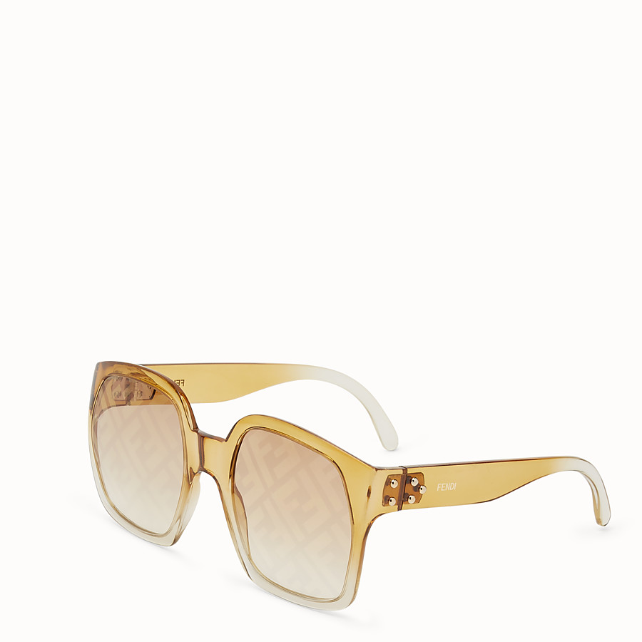 FENDI FENDI DAWN - Yellow sunglasses - view 2 detail
